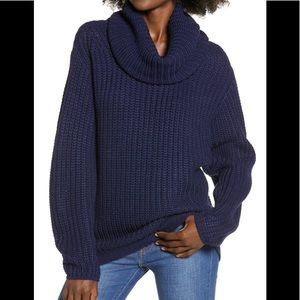 NWTs LEITH • Nordstrom Navy Oversized Knit Sweater